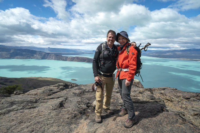 Fighting cancer with every step to Patagonia
