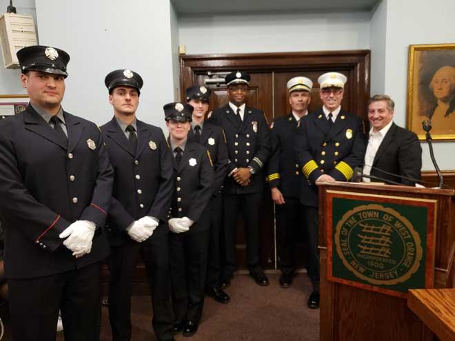 Four new West Orange firefighters sworn in