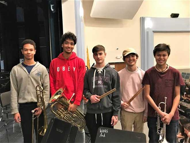 WOHS musicians accepted to North Jersey Regional groups