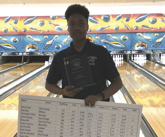 PERFECTION! West Orange HS bowler Kieryn Knox rolls 300 game to capture Essex County Individual boys title