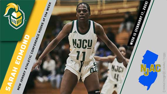 NJCU's Sarah Edmond earns second NJAC Rookie of the Week honor