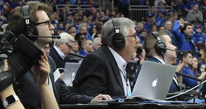 Legendary ESPN broadcaster helps call basketball game on WSOU