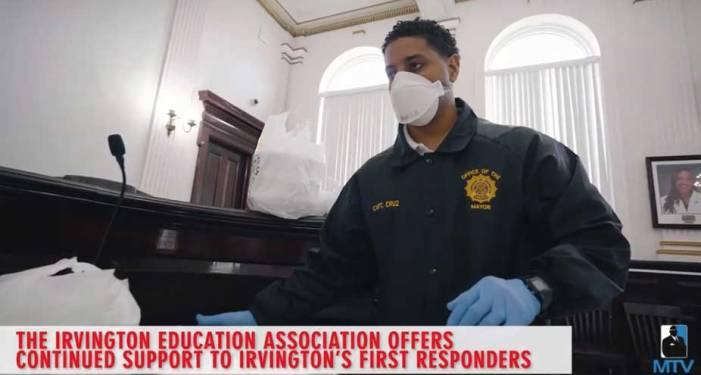 Irvington Education Association donates meals to hero first responders