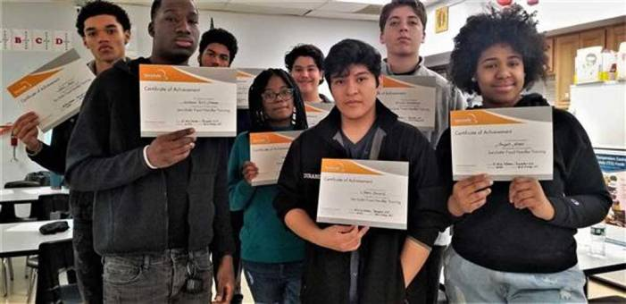 Ten WOHS students receive ServSafe certification