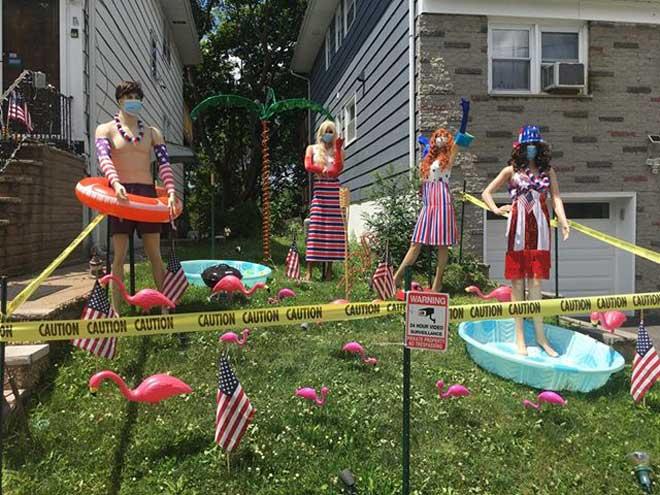Bloomfield teen makes neighborhood more patriotic