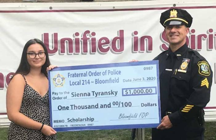 Bloomfield Fraternal Order of Police awards scholarship