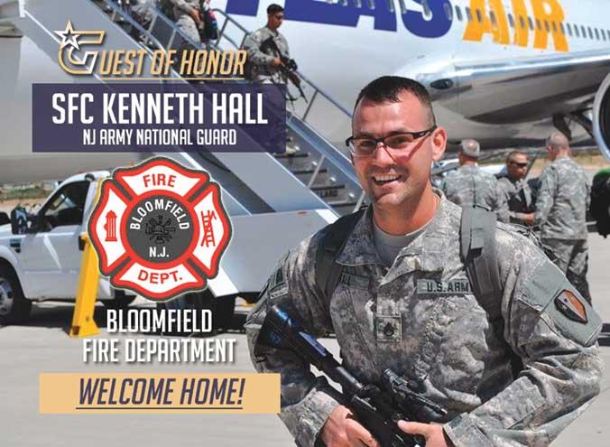 Bloomfield Fire Dept. celebrates return of guardsman