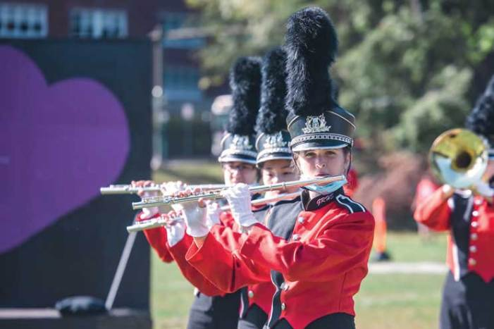Marching to their own beat in Glen Ridge
