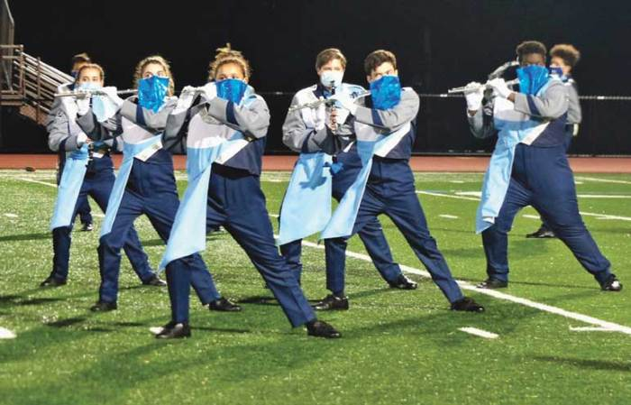 WOHS marching band tells COVID, 'Don't Stop Us Now!'