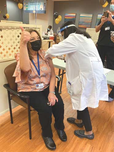 Daughters of Israel rings in the new year with COVID vaccinations