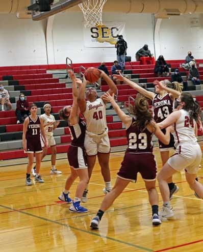 Bloomfield girls basketball team falls to Verona