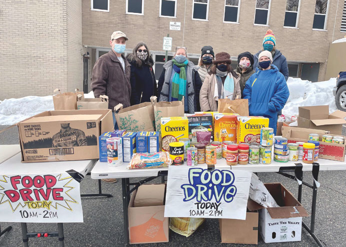Service clubs unite for food drives