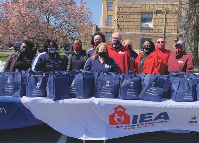 Irvington Education Association hosts food giveaway to help community