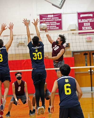 Bloomfield boys volleyball falls to Payne Tech. 2-0