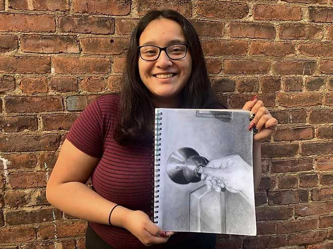 West Orange HS senior wins 2nd place in Congressional Art Competition