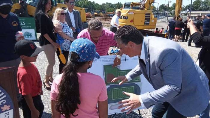 Belleville breaks ground on $5.5 million upgrade to athletic facilities at high school