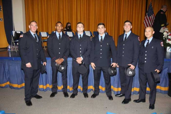 Belleville swears in new firefighters during ceremony, promotes veterans