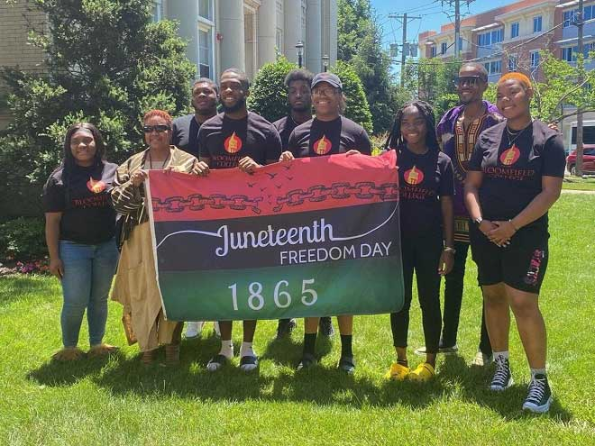 NAACP holds Juneteenth flag-raising ceremony at Bloomfield College