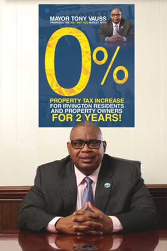 Vauss commits to no property tax increases for next 2 years in Irvington