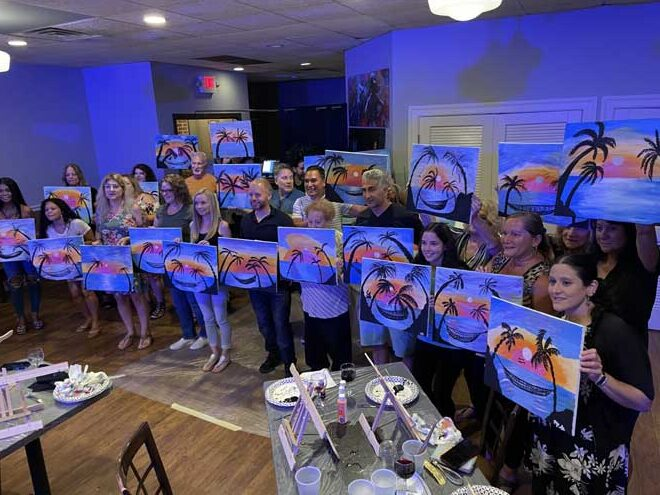 Laughter and landscapes: painting event raises money to keep Belleville green