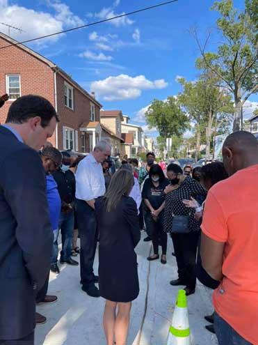 Governor visits Irvington to survey damage from Ida