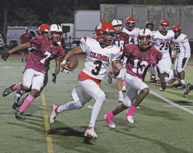 Columbia HS football team defeats Bloomfield