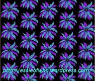 Flower Medalian- Black background