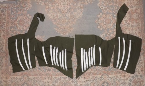 Duck cloth and boning for the bodice