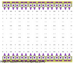 Crown fabric deisgn- Purple stones