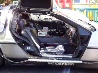 Inside the Back to the Future Delorean