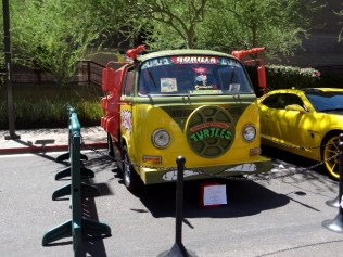 Teenage Mutain Ninja Turtles van