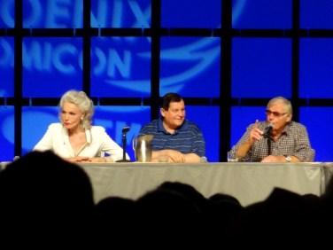 Julie Newmar, Burt Ward, and Adam West