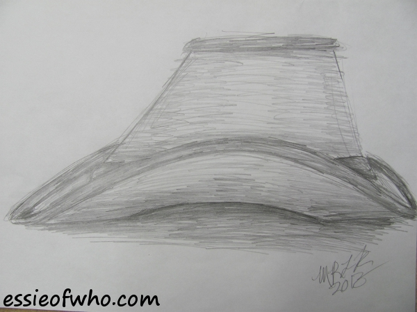 Sketch of a hat.