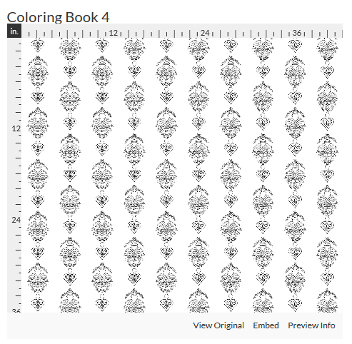 coloring book 4 fabric design