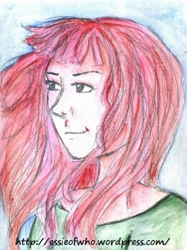 Watercolors, lead pencil, and colored pencils on watercolor paper.