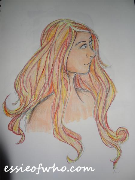 girl fire hair