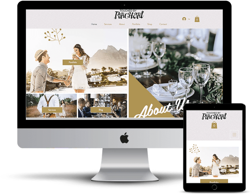 events planner website template