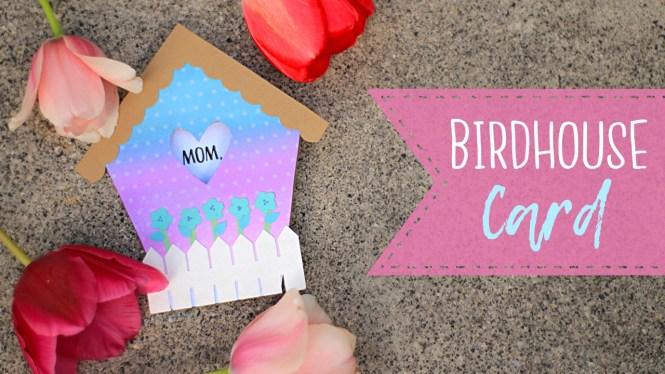 Birdhouse Mother's Day Card Tutorial + Free Coloring Page