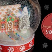 Gingerbread House Snow Globe Tutorial