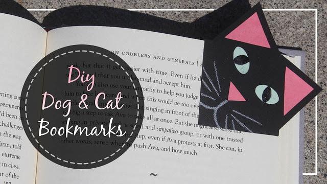 Dog & Cat Paper Bookmark Tutorial