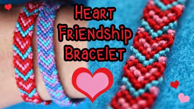 Heart Friendship Bracelet Tutorial