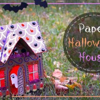 Halloween Paper Gingerbread House Tutorial
