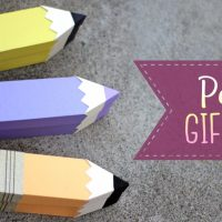 Paper Pencil Gift Box Tutorial