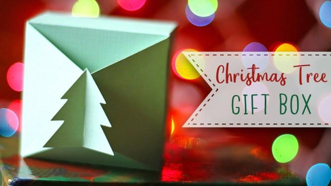 Interlocking Christmas Tree Paper Gift Box Tutorial
