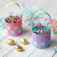 Cute Mini Paper Easter Basket Tutorial