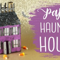 Spooky 3D Paper Haunted House Tutorial!
