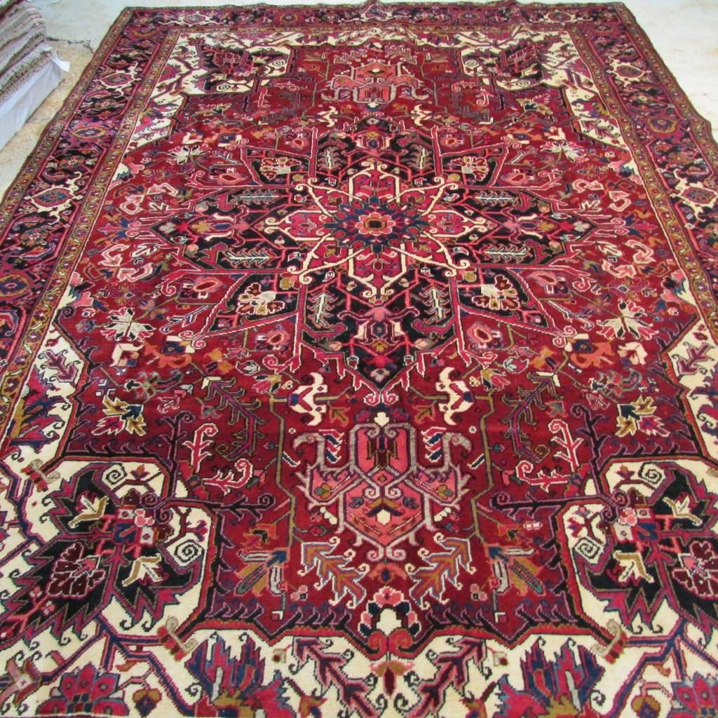 5736 Persian Heriz 8×11.2