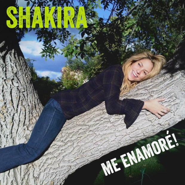 "Shakira's ""Me Enamoré"" single cover"