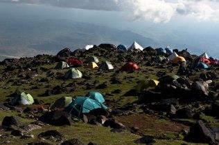 Acampamento base da escalada