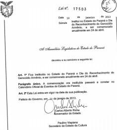 Genocídio, Armênio, Paraná, brasil
